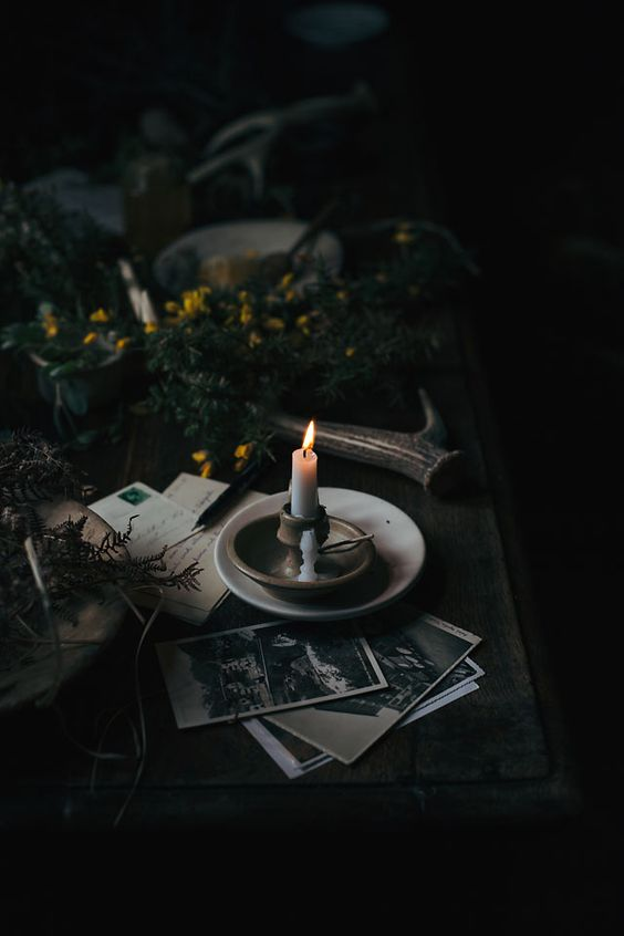 candle and home
