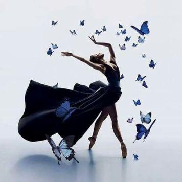 blue butterly dancer