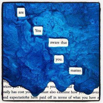 blue makeblackoutpoetry