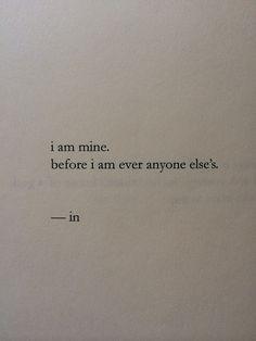mine before anyone else's