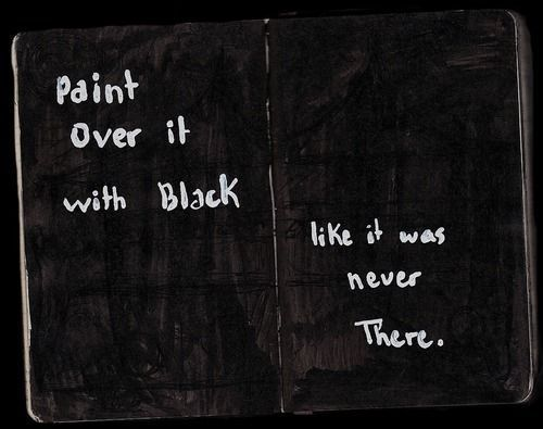 paint over it in black