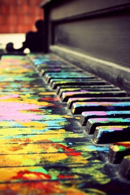 piano keys of color