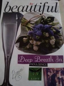 vision board purple breath in